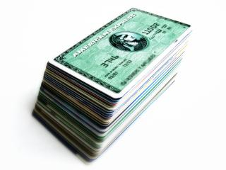 Credit Cards in a Stack